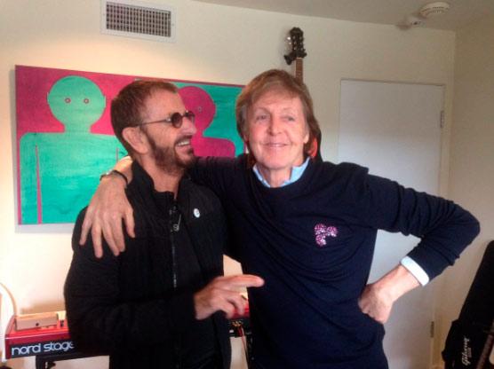 Paul McCartney и Ringo Starr записывают новый альбом